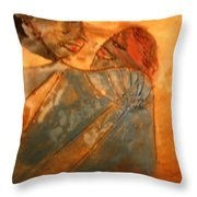 Red Kiss - Tile Throw Pillow
