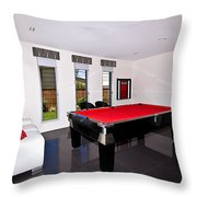 Red Pool Table Throw Pillow