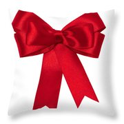 Red Ribbon Throw Pillow