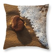 Red Rock And Surf Throw Pillow