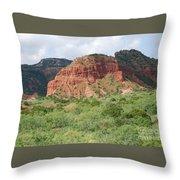 Red Rock At Caprock  Throw Pillow