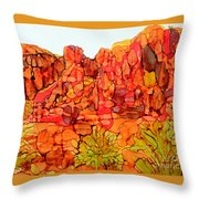 Red Rock Canyon Loop Throw Pillow
