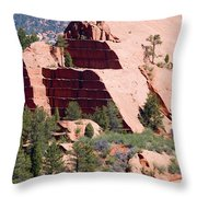 Red Rock Canyon Open Space Park Throw Pillow