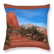 Red Rock Country Throw Pillow