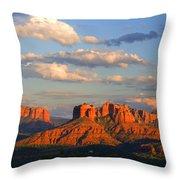 Red Rocks Sunset Throw Pillow