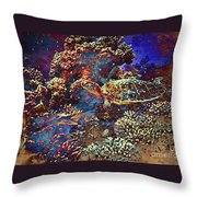 Red Sea Turtle Throw Pillow