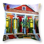 Red Shotgun House Throw Pillow