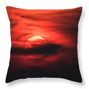 Red Swirl Throw Pillow