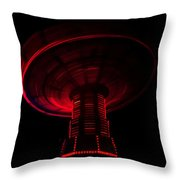 Red Wheel Throw Pillow