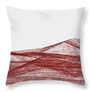 Red.318 Throw Pillow