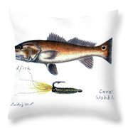 Redfish And Cave's Wobbler Throw Pillow