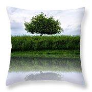 Reflecting Tree Throw Pillow