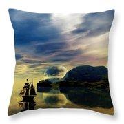 Reflection Bay Throw Pillow by Sandra Bauser Digital Art