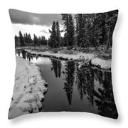 Reflections On Obsidian Creek Throw Pillow