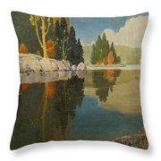 Reflective Lake Throw Pillow