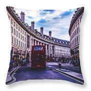 Regent Street In London Throw Pillow