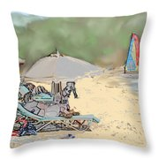 Reggae Beach Throw Pillow