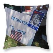 Register To Vote Bobby Kennedy Poster Sylver Short Hand Peart Park Casa Grande Arizona 2004 Throw Pillow