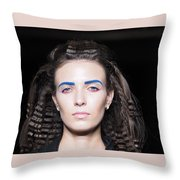 Rehearsals On The Catwalk Of London Fashion Week 2015 Throw Pillow