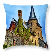 Reichsburg Cochem. Throw Pillow