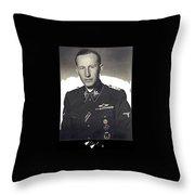 Reinhard Heydrich Circa 1940 Color Added 2016 Throw Pillow