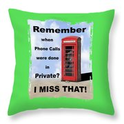 Remember When . . . Throw Pillow