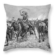 Remington: Cowboys, 1888 Throw Pillow