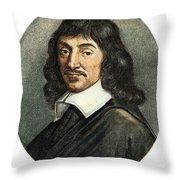 Rene Descartes, 1596-1650 Throw Pillow
