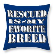 Rescued Stencil  Throw Pillow