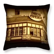 Restaurant Sign In Brussels Throw Pillow