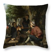 Resting Travellers Throw Pillow