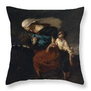 Retreat From The Storm Throw Pillow