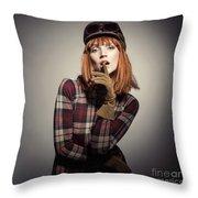 Retro Style Fashion Throw Pillow