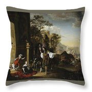 Return From The Hunt Throw Pillow