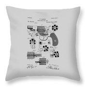 Revolving Fire Arm Patent 1881 Throw Pillow