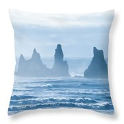 Reynisdrangar. Throw Pillow