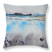 Rhossili Bay, Wales Throw Pillow