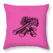 Rhubarb Stalks Throw Pillow