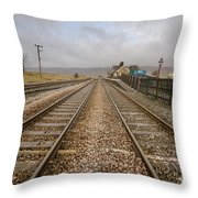 Ribblehead Station Throw Pillow