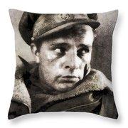 Richard Burton, Vintage Actor Throw Pillow