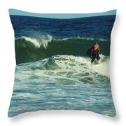 Riding Easy - Jersey Shore Throw Pillow by Angie Tirado