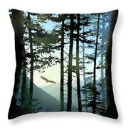 Riding The Warm Currents Throw Pillow