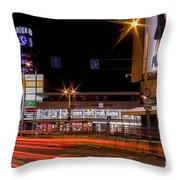 Riga By Night Throw Pillow