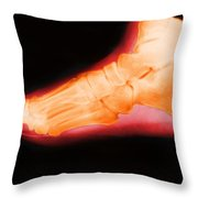 Right Foot Throw Pillow