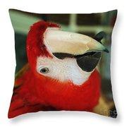 Ringo The Ruby Macaw Throw Pillow