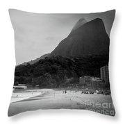 Rio De Janeiro Beach Throw Pillow