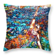 Rising To The Surface Like A Last Breath Last Scream Throw Pillow