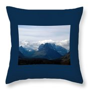 Rising Wolf And Two Medicine Lake Throw Pillow