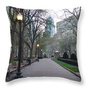 Rittenhouse Square In The Morning Throw Pillow