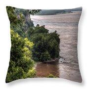 River Bluff View Throw Pillow